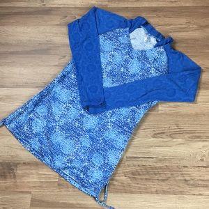 Kuhl lightweight pullover top, blue, sz M